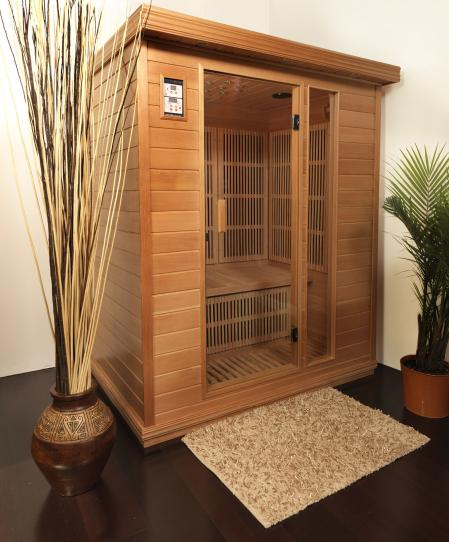person infrared sauna